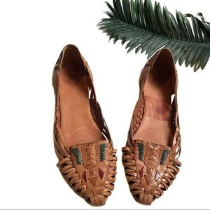 Lucky Brand Leather Huarache Flats Size 8